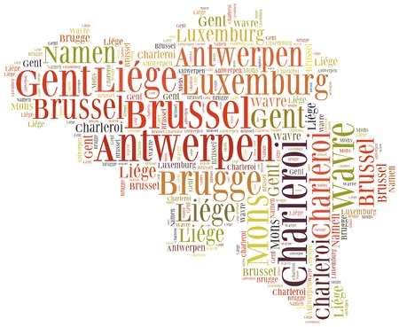 Tourism concept of country Belgium and big cities photo