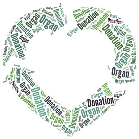 donacion de organos: Dise�o gr�fico relacionado con la donaci�n de �rganos Foto de archivo