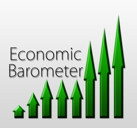 futures: Graph illustration showing Economic Barometer growth  Macroeconomics indicator concept