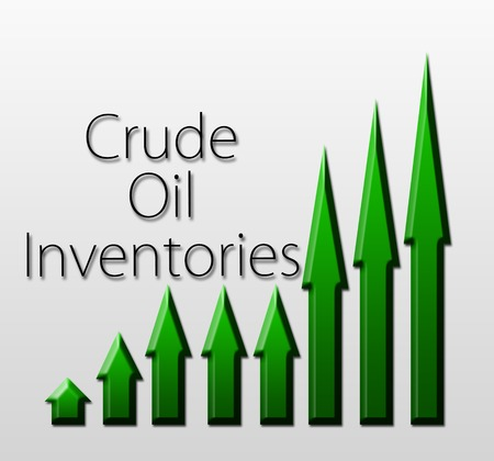 crude oil: Graph illustration showing Crude Oil Inventories growth  Macroeconomics indicator concept