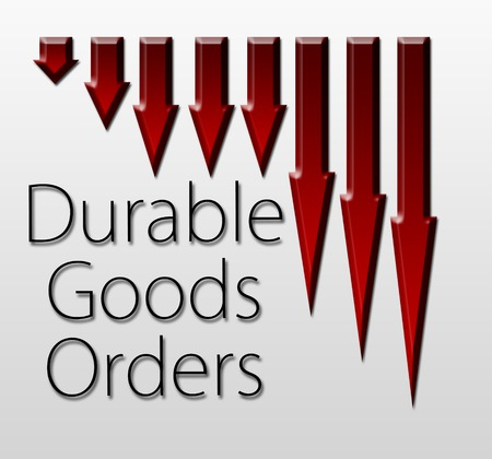 durable: Graph illustration showing Durable Goods Orders decline  Macroeconomics indicator concept