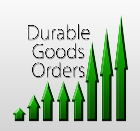 durable: Graph illustration showing Durable Goods Orders growth  Macroeconomics indicator concept