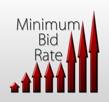 bid: Ilustraci�n gr�fica que muestra un crecimiento m�nimo de puja Macroeconom�a concepto indicador