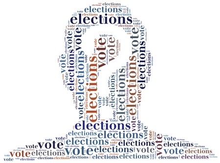 Word cloud illustration related to elections or voting illustration