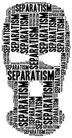 separatism: Tag cloud illustration related to separatism