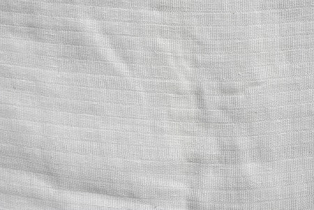 White fabric background or texture photo