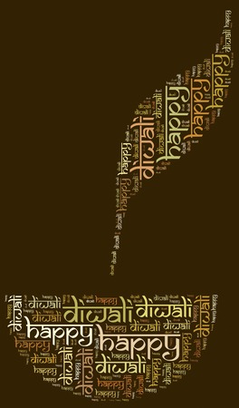 dipawali: Diwali, Indian holiday  Word cloud illustration