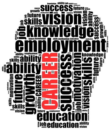 Word cloud illustration related to career or employment illustration
