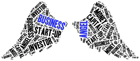 ownership equity: Business angel or funds gaining concept. Word cloud illustration.