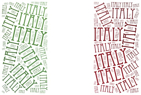 National flag of Italy. Word cloud illustration. illustration