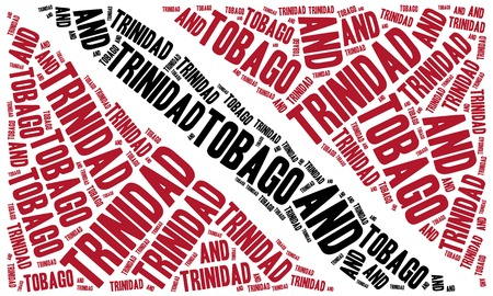 national flag trinidad and tobago: National flag of Trinidad and Tobago. Word cloud illustration.