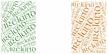 irish pride: National flag of Ireland. Word cloud illustration.