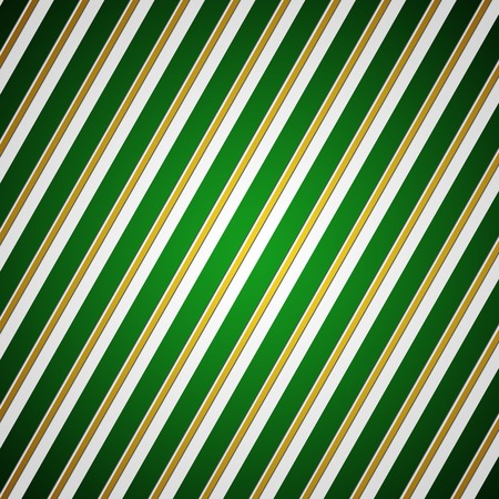 vintage element: Elegant green and gold striped background or texture Stock Photo