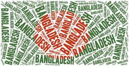 national flag bangladesh: National flag of Bangladesh. Word cloud illustration.
