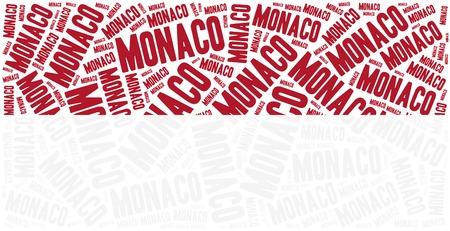 National flag of Monaco. Word cloud illustration. illustration