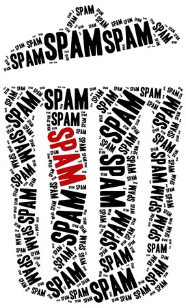 junk mail: Word cloud illustration related to spam or junk mail