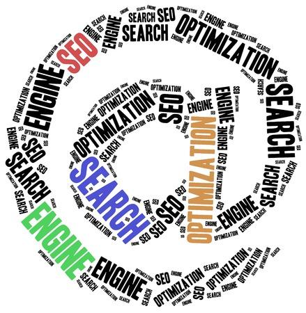 Search Engine Optimization concept. Word cloud illustration. illustration