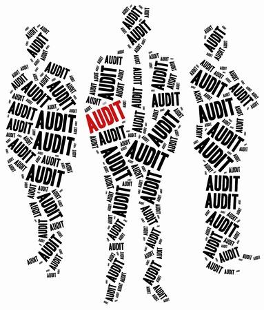 audit: Audit oder Unternehmenssteuerung Konzept. Word Wolke Illustration.