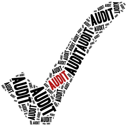controlling: Audit or corporate controlling concept. Word cloud illustration.