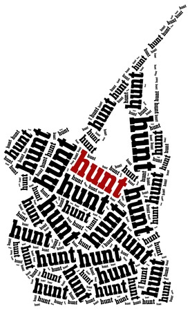killings: Hunting concept. Word cloud illustration. Stock Photo
