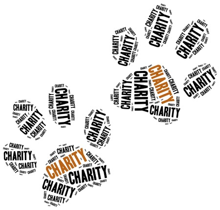 Animals or domestic pets charity. Word cloud illustration.