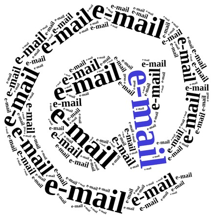 Spam Unsolicited Email Inbox Mailbox Word 3d Illustration Stock