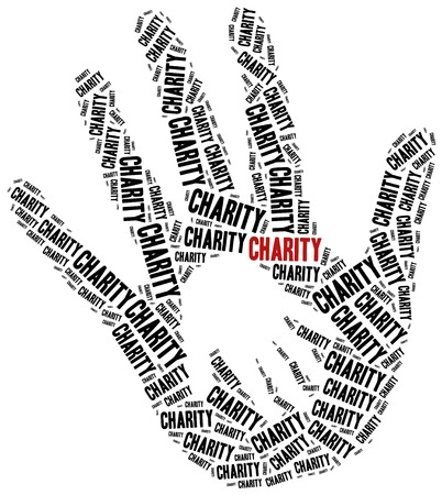 Animals or domestic pets charity. Word cloud illustration. illustration