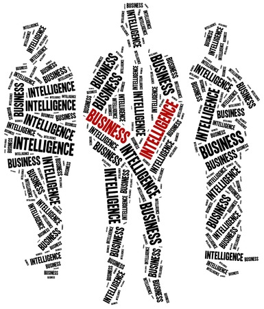 Business intelligence concept. Word cloud illustration.
