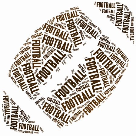 super bowl: Word cloud illustration related to american football or Super Bowl tournament. Stock Photo