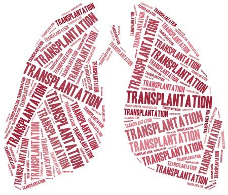 transplant: Lung transplantation. Word cloud illustration.