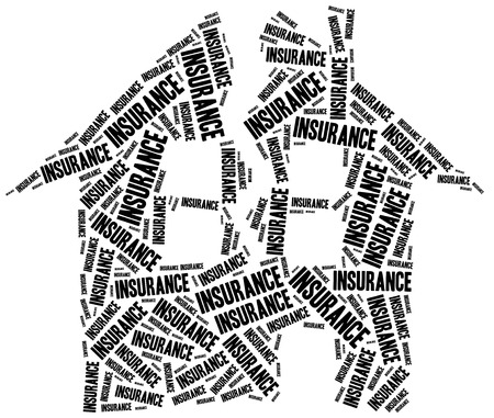 family policy: House insurance. Word cloud illustration.