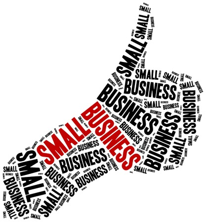 self employed: Small business. Word cloud illustration entrepreneurship related.