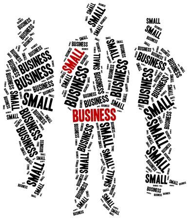 Small business. Word cloud illustration entrepreneurship related.