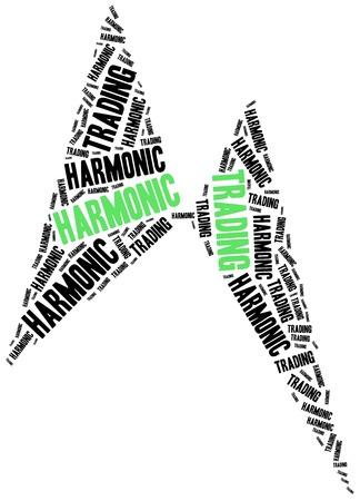 harmonic: Harmonic trading. Price pattern used in stock market analysis. Financial abstract. Stock Photo