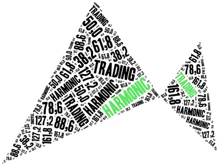 stock exchange brokers: Harmonic trading. Price pattern used in stock market analysis. Financial abstract. Stock Photo