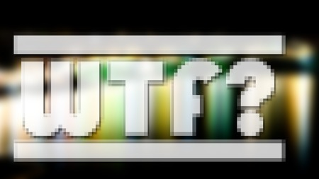 wtf: WTF?. Popular abbreviation or saying. Soft focused or blurred abbreviation. Stock Photo