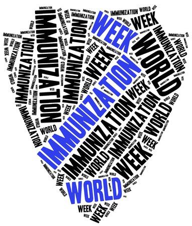 World immunization week. Word cloud illustration. illustration