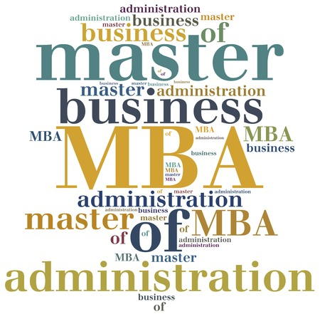 business administration: MBA. Master of business administration. Education concept.