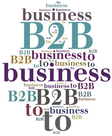b2b: B2B. Business to business. Type of corporate cooperation. Stock Photo