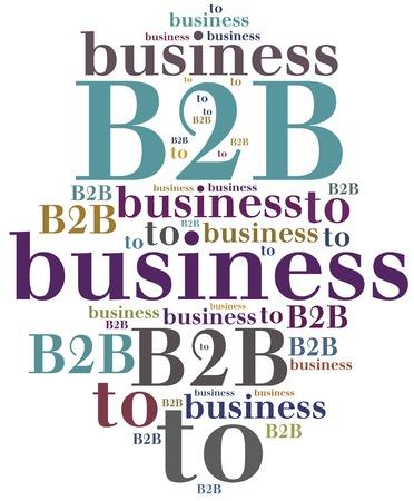 b2b: B2B. Empresa a empresa. Tipo de cooperación empresarial.
