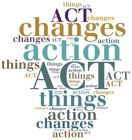act: ACT. Action Change Things. Motivational concept. Stock Photo