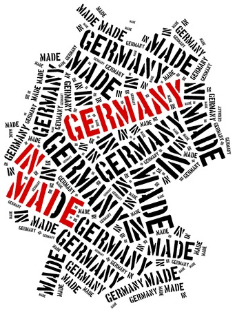 manufactured: Made in Germany. Label on manufactured product. Stock Photo