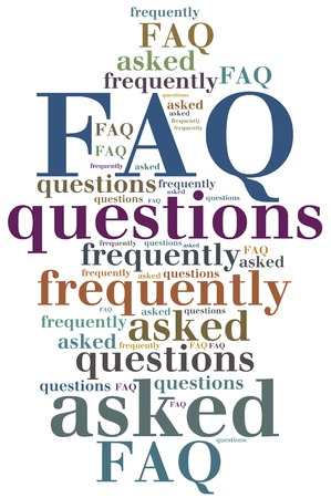 asked: FAQ. Frequently asked questions. Internet helpdesk concept.
