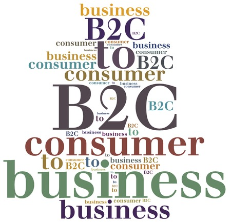 b2c: B2C. Business to consumer. Type of business activity.