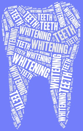 whitening: Teeth whitening. Dental care concept. Word cloud illustration. Stock Photo