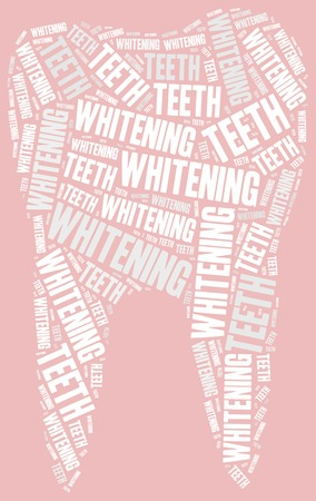 dental prophylaxis: Teeth whitening. Dental care concept. Word cloud illustration. Stock Photo