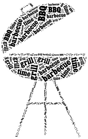 party time: Barbecue, grill or BBQ time. Word cloud illustration.