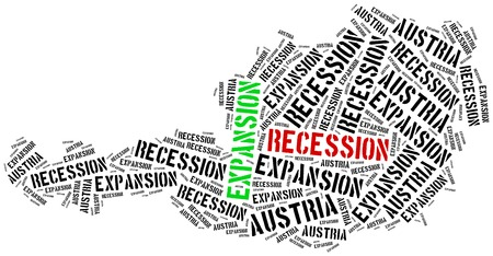 business cycle: Expansion and recession in Austria. Business cycle concept.