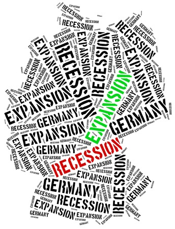 emerging economy: Expansion and recession in Germany. Business cycle concept. Stock Photo