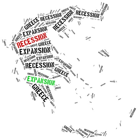 expansion: Expansion and recession in Greece. Business cycle concept.